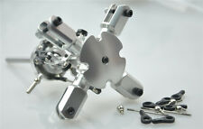 Silver Flybarless 4 Blades Quad Bladed Rotor Head For T-rex 450 Heli
