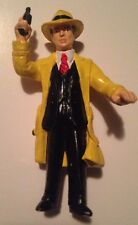"Vintage DICK TRACEY 4"" Action Figure-DISNEY/APPLAUSE PVC Rubber Toy-""gun in air"""