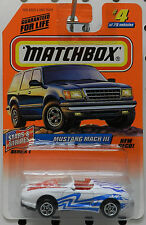 FORD MUSTANG MACH III 3 CONV NEW DECO STARS STRIPES 4 1998 MB MBX MATCHBOX