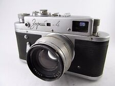 Rare 1956 Zorki 4 Type 1 35mm USSR RF Camera Jupiter 8 50mm f/2.0 Lens 72019403