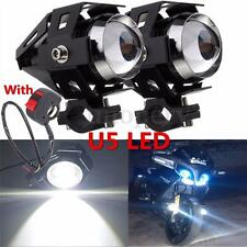 2x 125W Motorcycle Motorbike LED U5 Headlight Driving Fog Spot Lights + Switch