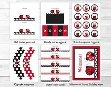 Little Red Ladybug Garden Printable Birthday Party Package