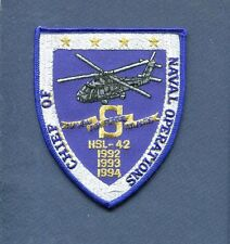 HSL-42 PROUD WARRIORS SAFETY S 92 93 94 US Navy Helicopter Squadron Jacket Patch