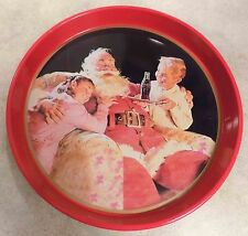 Vintage 1995 Coca-Cola Serving Tray Children Serving Santa - Coke  FREE SHIPPING