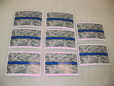 8 THIN BLUE LINE CAMO FLAG Sticker Decals 4 MILITARY POLICE car Window Truck suv