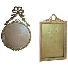 Pair of Diminutive French 19th Century Bronze Picture Frames