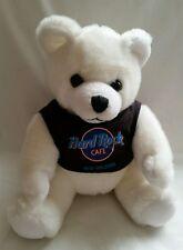 """Herrington Hard Rock Cafe  White Teddy Bear 9"""" , New Orleans, 1990"""