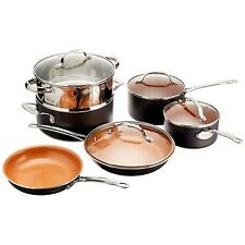 Gotham Steel Ceramic and Titanium Nonstick 10-Piece Cookware Set Frying Pan Pots