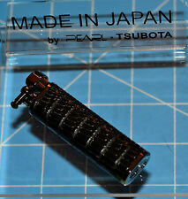 Tsubota Pearl XL BOLBO Lizardskin Leather Flint Lighter Seki City Japan Old Boy☦