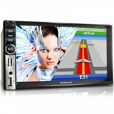 AUTORADIO MIT GPS NAVIGATION NAVI BLUETOOTH VIDEO TOUCHSCREEN USB SD MP3 2DIN