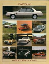 Dodge 1983 USA Market Brochure 600 400 Aries Omni Charger Colt Challenger Mirada