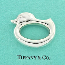 Preowned Tiffany & Co. Sterling Modern Simple Design Duck Motif Baby's Rattle