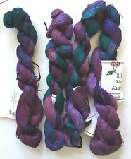 "50 Gram Hank of Suri Lace Hand Painted Color ""Blueberry Hill"" - Cherry Tree Hill"