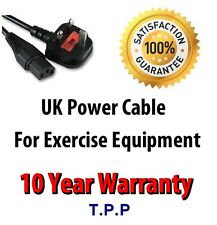 UK Mains Power Lead Cable Cord For Cross Trainer Rowing Machine Exercise Bike