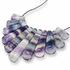 Natural fluorite collier pendentif bead set handmade jewelry making art roches uk