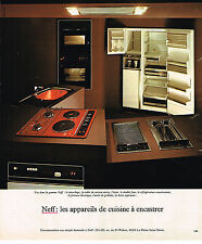 PUBLICITE ADVERTISING 035  1977  NEFF  éléctroménager à encastrer