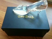 Arrabas Disney Cinderella Glass Crystal Slipper With Frosted Heart Large & Solid