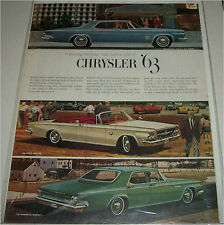 1963 Chrysler Lineup car ad #2