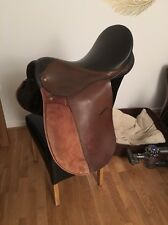 17.5 Inch Brown Imported Leather GP Saddle Wide Width