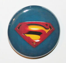 "1"" (25mm) SUPERMAN Logo Button Badge Pin - MADE IN UK - Students, Kids & Gift"