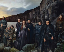 Maisie Williams, Kit Harington & Rory McCann cast photo - E429 - Game of Thrones