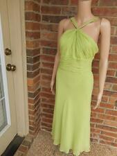 New ANNE KLEIN Maxi Dress Size 14 Lined 100% Silk Party Cocktail Evening L Green