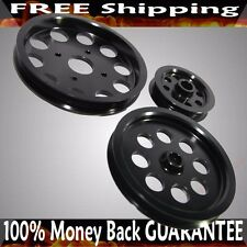 BLACK Crank Pulley Kits for RB20 / RB25DETS/ RB26 ENGINE ONLY