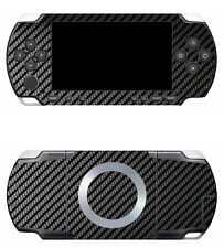 Black Carbon Fiber Vinyl Decal Skin Sticker Cover for Sony PSP 1000