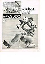 PUBLICITE   1966   BABY RELAX   baby9 siège bébé