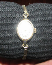 Ladies Womens non-working V-Mac Swiss Made Wrist Watch Gold Color