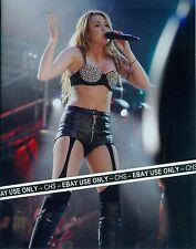 MILEY CYRUS SEXY!! COLOR CANDID 8x10 PHOTO HOT POSE IN CONCERT!! #006