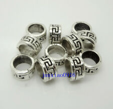 HOT 30/300pcs Bronze/Tibetan Silver Spacer Beads Barrel Big Hole Jewelry Making