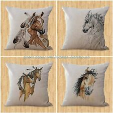 set of 4 home interior decorating horse pillow cushion covers equine