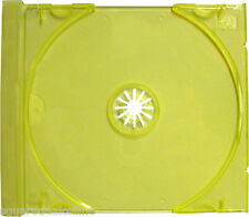 (25) CDIS80TL Transparent Yellow Green CD Trays Inserts Replacements Plastic