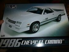 AMT 1986 CHEVY EL CAMINO PICKUP MODEL CAR MOUNTAIN KIT 1/25 #712 OPEN