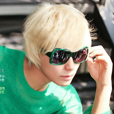 Trendy Mens Boys Short Straight Platinum Blonde Wig Costume Cosplay Party Dance