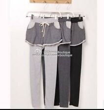 Korean Women's Fleece Lining Legging Pants- Size XS/S-- BLACK