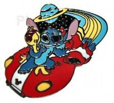 Disney Pin: WDW Cast Lanyard Collection 4 Stitch on a Flying Saucer (Standing)