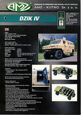 AMZ Dzik IV Wild Boar catalogue brochure military infantry mobility vehicle