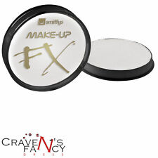 WHITE Face & Body Paint SMIFFYS FX 16ml Pot Fancy Dress Aqua Facepaint Halloween