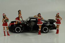 Porsche 911 993 991 964 Figur Girls Set 4 Figuren Christmas 1:18 Diorama no car
