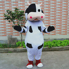 Hot Christmas Cow Mascot Costume Cosplay Party Dress Outfit Adult Free shipping