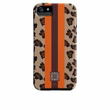 Case-Mate Iomoi Designer Print Phone Case iPhone 5/s Cheetah Stripe Orange/Brown