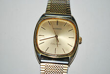 TECHNOS Wrist Watch Swiss 1980s Quartz Men's Working Tested Gold Color Executive
