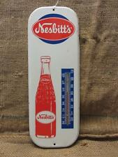 Vintage Nesbitts Orange Soda Thermometer Sign   Antique Old California Pop 9308