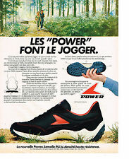 PUBLICITE ADVERTISING 1980 POWER  chaussures de sport LES MANUFACTURES ST MARCEL