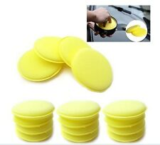 12x Waxing Polish Sponge Applicator Pads Fit Cleaning Car Auto Glass Yellow