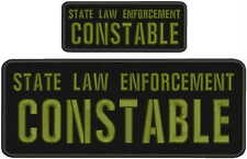 state law enforcement constable embroidery Patches 4x10 and 2x5 hook on back