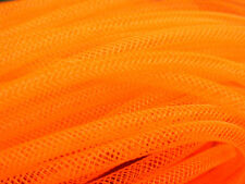 4mm SKINNY TUBULAR CRIN NEON ORANGE CYBERLOX DREADS 5 METRES GIFT WRAPPING