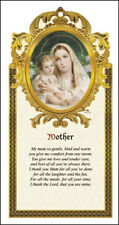 MADONNA AND CHILD WOODEN PLAQUE - CATHOLIC CANDLES STATUES PICTURES LISTED